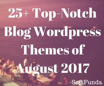 25+ Top-Notch Blog WordPress Themes of August 2017