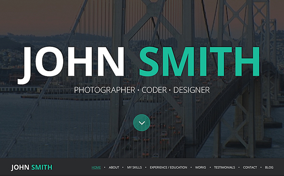 Resume and Portfolio WordPress Theme