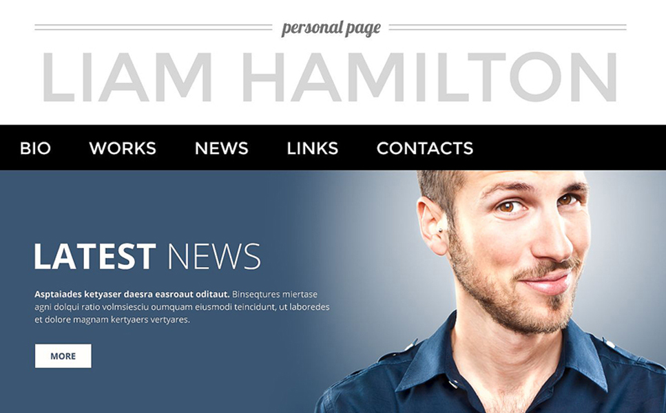 Personalized Page WordPress Theme