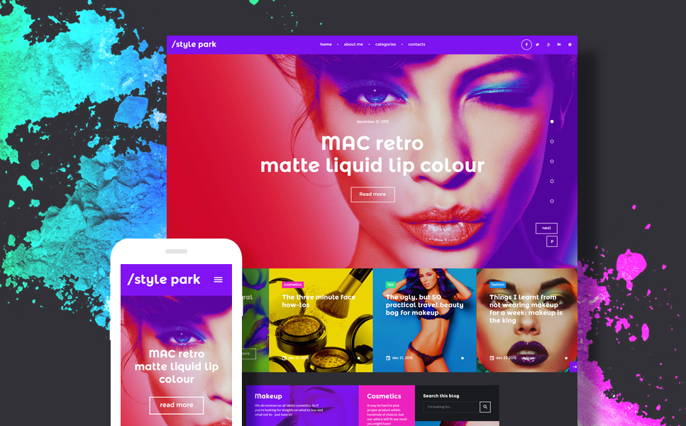Style and Beauty Blog WordPress Template