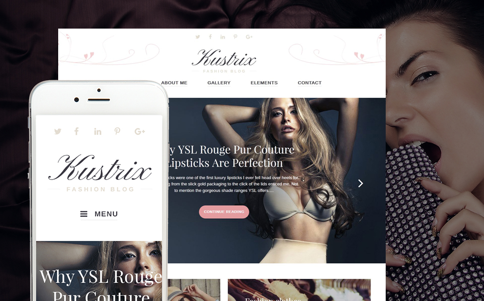 Fashion & Beauty Magazine WordPress Theme