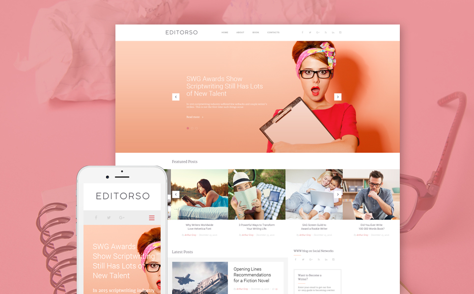 Writer and Editor WordPress Theme