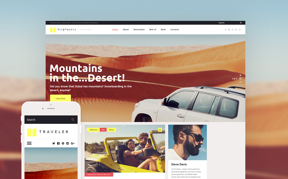 Travel Journal WordPress Theme