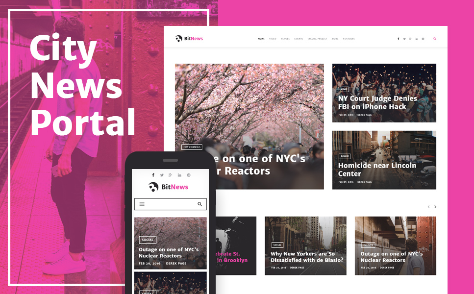 Blog, Magazine & News Portal WordPress Theme