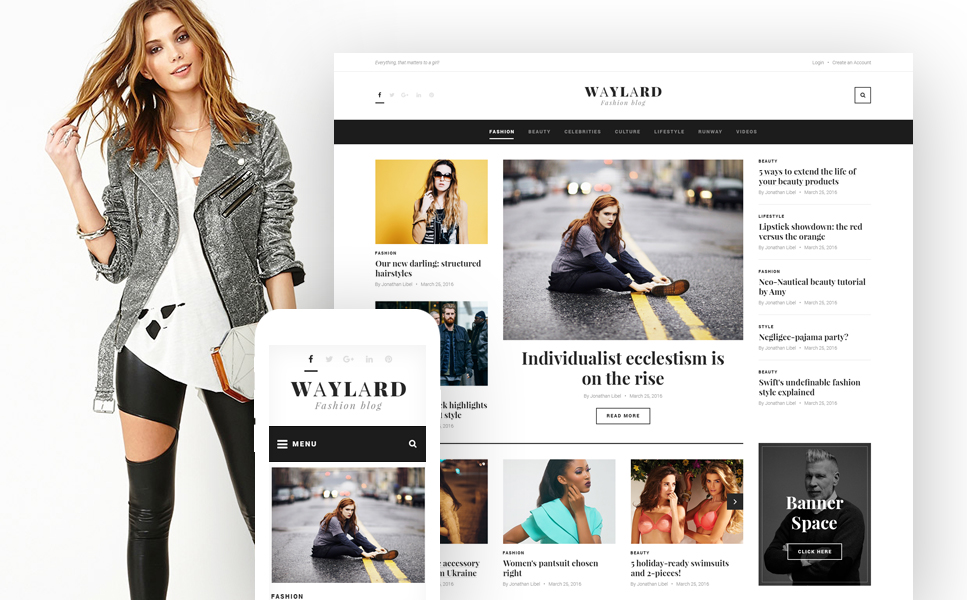 Vogue Magazine WordPress Theme