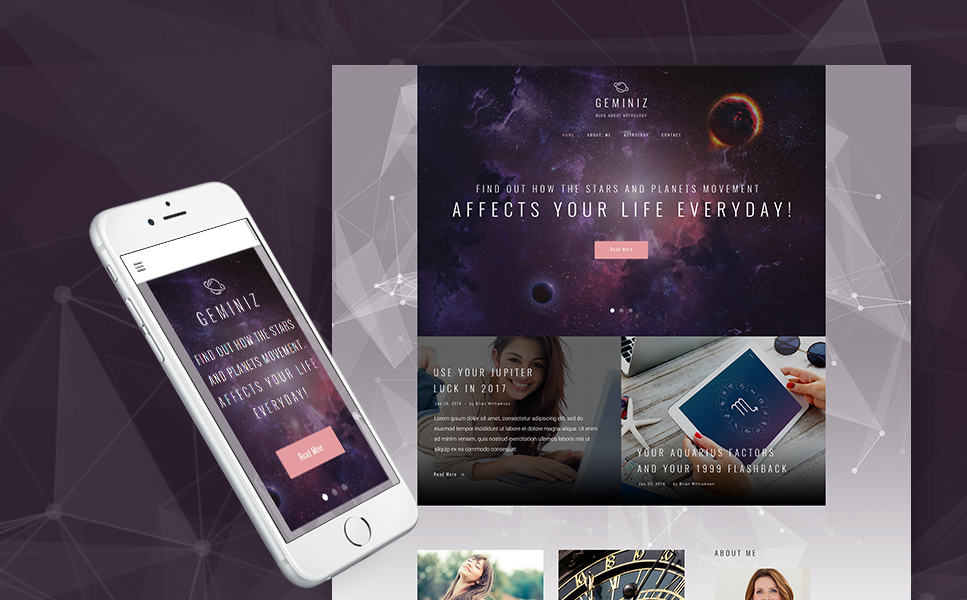 Personal Astrologist Responsive WordPress Theme