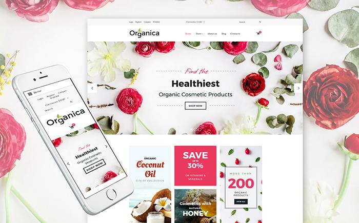 Cosmetics Store Responsive VirtueMart Template