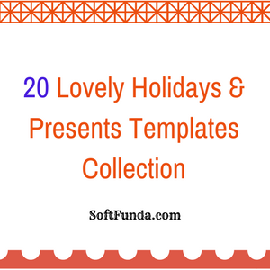 20 Lovely Holidays & Presents Templates Collection
