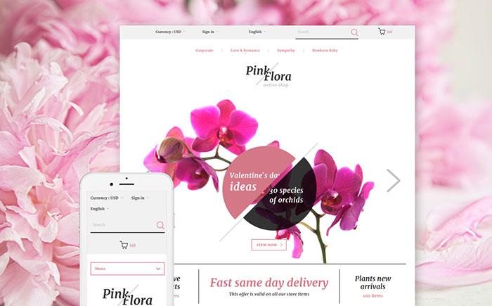 Elegant Minimalist Flowers Store & Delivery Services PrestaShop Theme