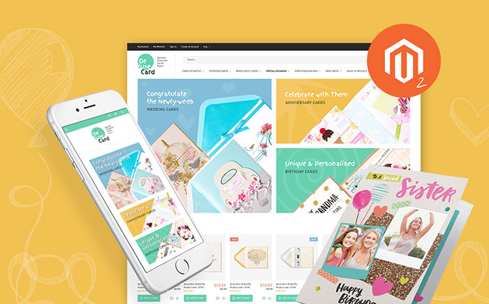 Holiday Cards Magento Theme