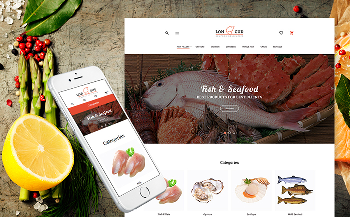 Longud - Seafood Store Magento Theme