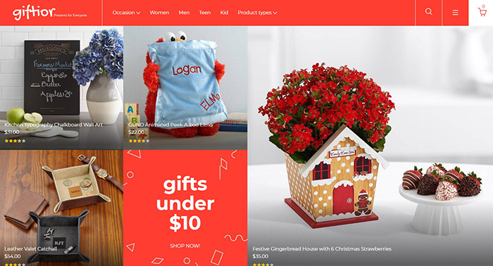 Giftior - Gifts Store Magento 2 Template
