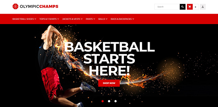 OlympicChamps - Basketball Store Magento 2 Theme