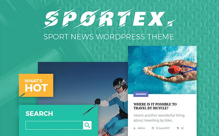 Sport Page WordPress Theme