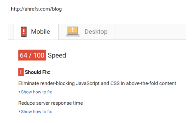 improve your site's loading speed