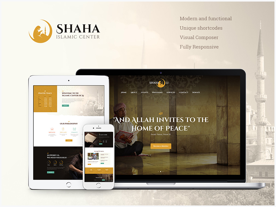 Shaha | Islamic Centre WP Theme + RTL