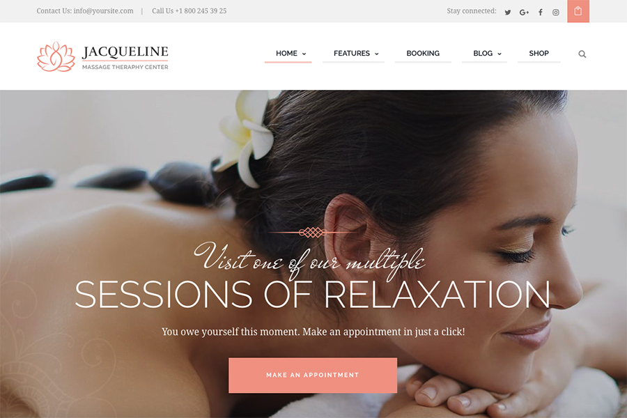 Jacqueline | Spa & Massage Salon Theme